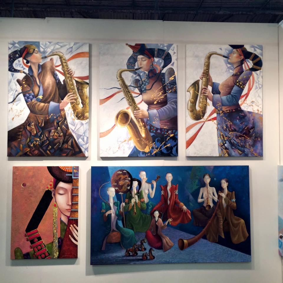 ZAYASAIKHAN SAMBUU is the artist behind these amazing paintings fro Art of Zaya.