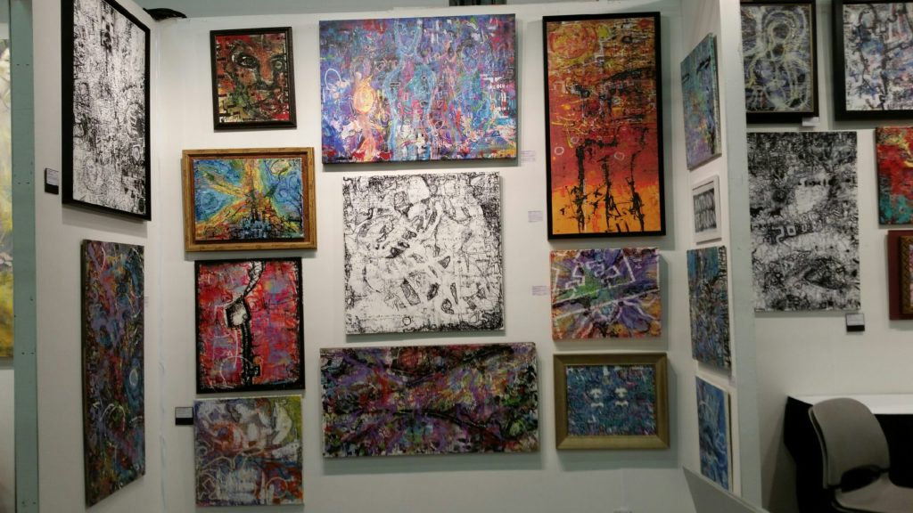 Anthony Fearron's paintings at Art Expo