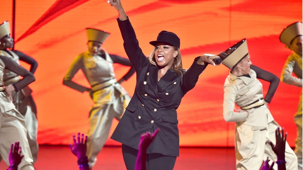 Queen Latifah switched it up at Hip Hop Honors