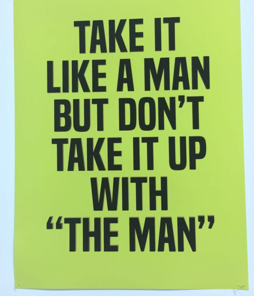 take it like a man