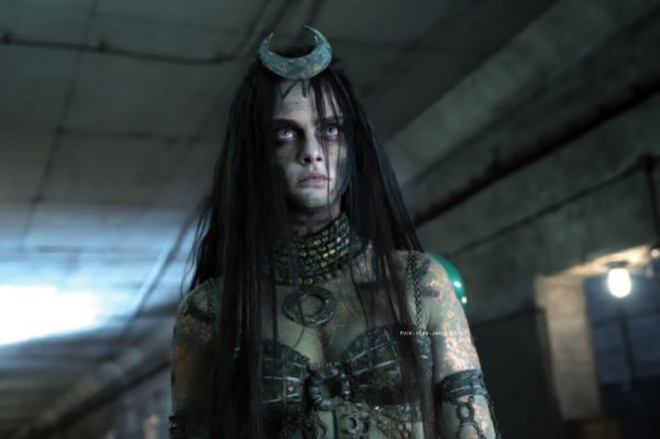 """Cara Delevingne as The Enchantress in """"Suicide Squad"""" Photo courtesy of Flickering Myth"""