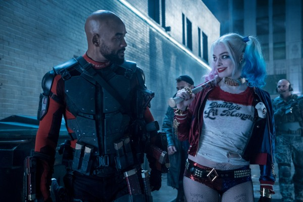 """Margot Robbie as Harley Quinn and Will Smith as Deadshot in """"Suicide Squad. Photo courtesy of Collider"""