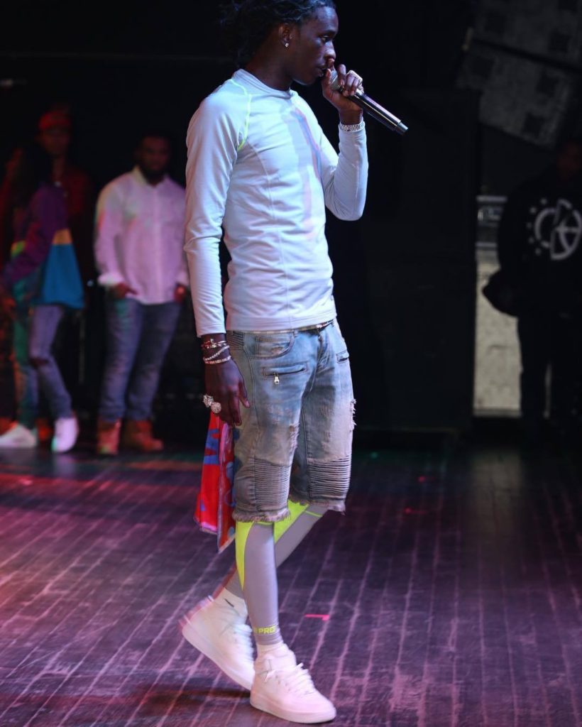 Young Thug rocking a Cedric Brown Collection scarf